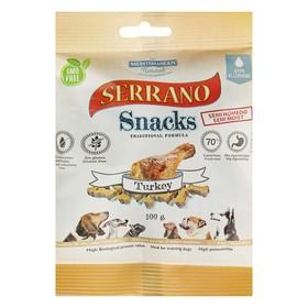 Лакомство Serrano Snacks для собак, индейка, 100 г Ош