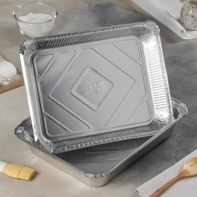 Контейнер алюминиевый 3,1 л, 32×26×5 см, 50 шт/уп