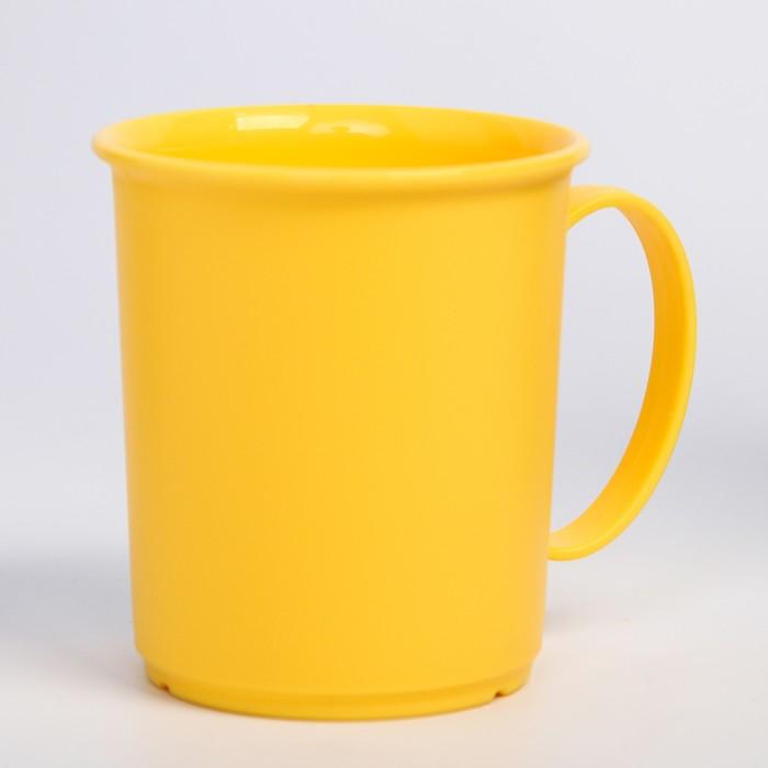 Кружка 180 мл, детская, пластиковая, цвет жёлтый