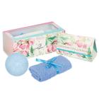 """Подарочный набор """"С 8 Марта"""": соль, бурлящий шар, полотенце"""