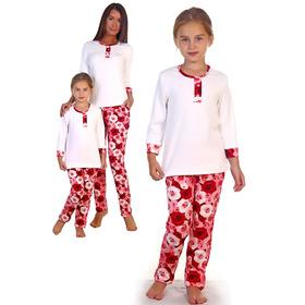 Комплект для девочки (кофта, брюки) Живопись цвет розовый, р-р 40