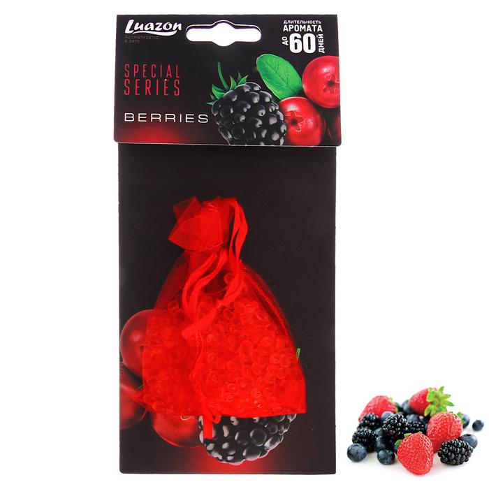 Ароматизатор в авто «Северные ягоды», мешочек с гелевыми гранулами