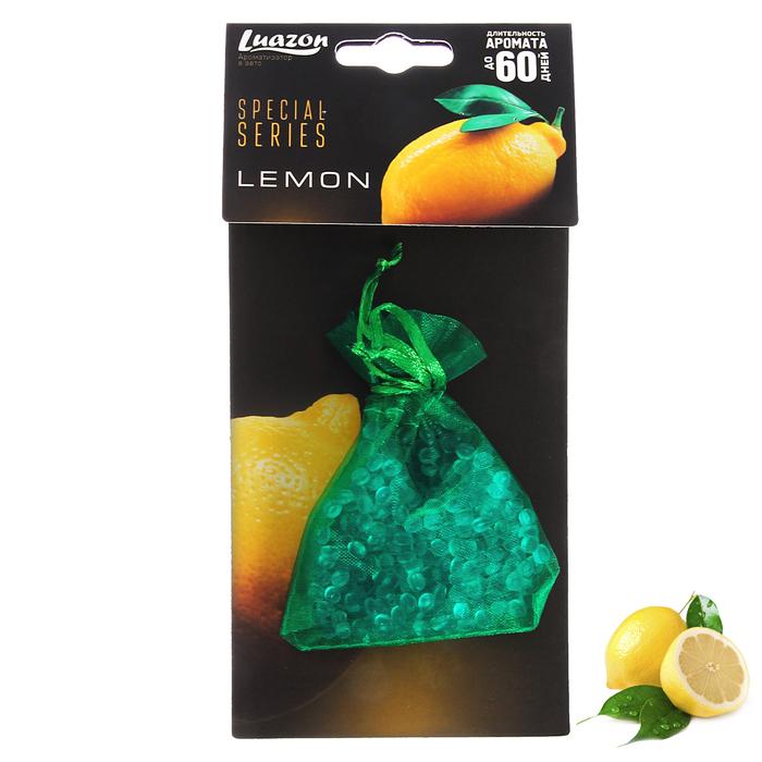 Ароматизатор в авто «Лимон», мешочек с гелевыми гранулами