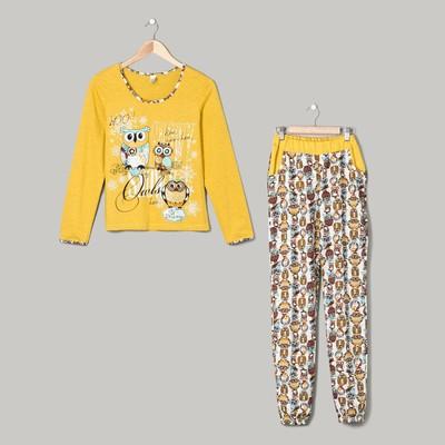Пижама женская (джемпер, брюки)1205 цвет МИКС, р-р 48