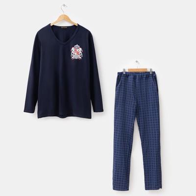 Комплект мужской (джемпер, брюки) Оскар цвет чёрный, р-р 52