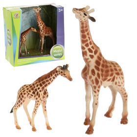 Набор животных «Жирафы», 2 фигурки, МИКС