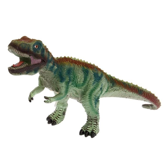 Фигурка динозавра «Гигант» мягкая, со звуковым эффектом, МИКС