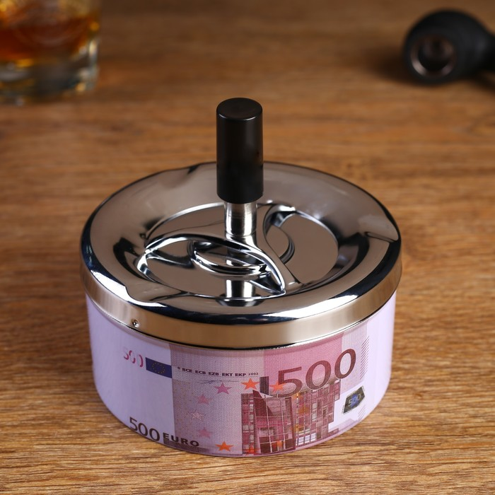 "Пепельница бездымная ""500 евро"", 10х11 см"