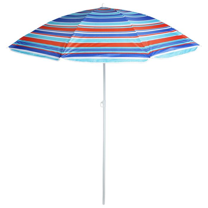 """Зонт пляжный """"Модерн"""" с серебряным покрытием, d=180 cм, h=195 см, МИКС"""