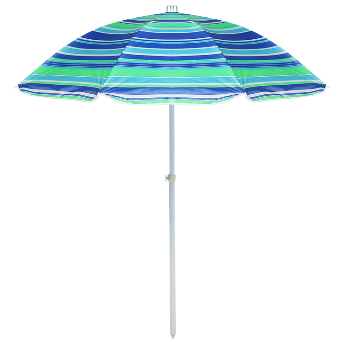"""Зонт пляжный """"Модерн"""" с серебряным покрытием, d=240 cм, h=220 см, МИКС"""
