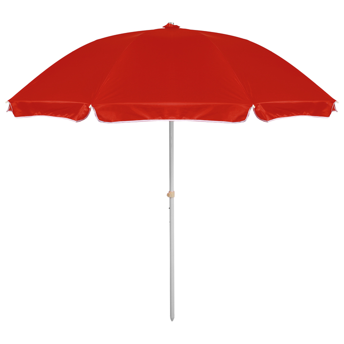 """Зонт пляжный """"Классика"""" с механизмом наклона, d=240 cм, h=220 см, МИКС"""
