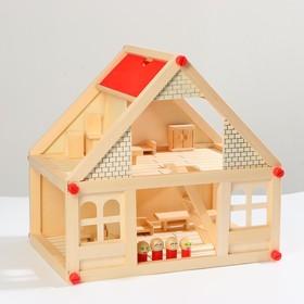 Дом с мебелью и 4 человечками, 39 элементов