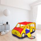 Игровая палатка «Авто», цвет красно-желтый