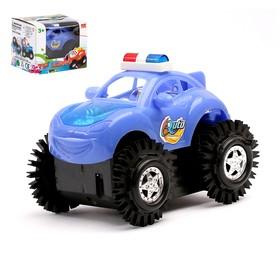 Машина-перевертыш «Полиция», работает от батареек, световые эффекты, цвета МИКС Ош
