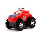 Машина-перевертыш «Полиция», работает от батареек, световые эффекты, цвета МИКС - фото 105649217