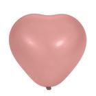 "Шар латексный Сердце 16"" Металл Розовое 25 шт. G"