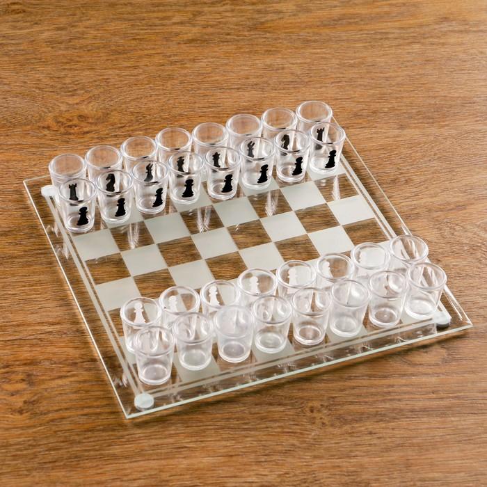 """Игра """"Пьяные шахматы"""", 32 рюмки, поле 25х25 см, микс - фото 5691842"""