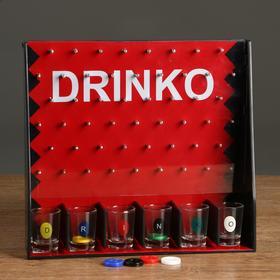 "Пьяная игра ""Drinko"", 6 стопок, 26х28 см"