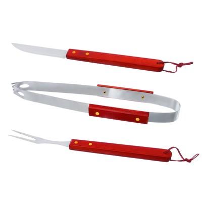 """Набор для барбекю """"Мужик готовит лучше всех"""", щипцы, вилка, нож"""