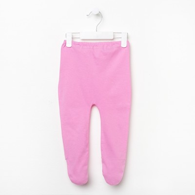 Ползунки для девочки, рост 74 см, цвет розовый ПО802_М