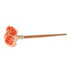 """Гавайская палочка для волос """"Розы"""", цвет оранжевый"""