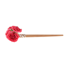 """Гавайская палочка для волос """"Розы"""", цвет красный"""