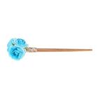 """Гавайская палочка для волос """"Розы"""", цвет голубой"""