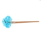 """Гавайская палочка для волос """"Букет"""", цвет голубой"""