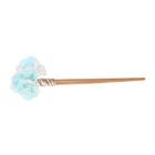 """Гавайская палочка для волос """"Цветы"""", цвет бело-голубой"""