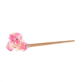 Гавайская палочка для волос 'Цветы', цвет бело-розовый Ош