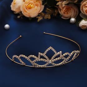 Диадема для волос 'Мирабель' 4 см, цветок, золото Ош