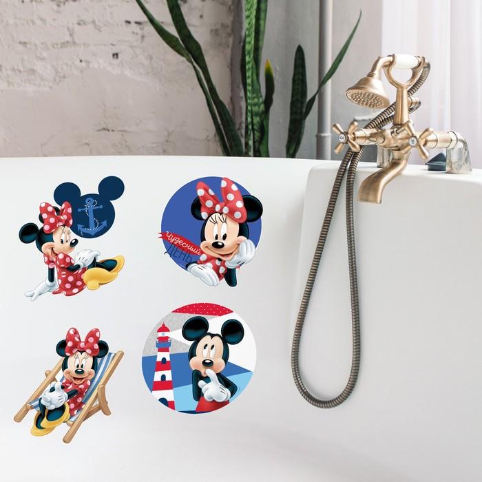 """Наклейки детские в ванну в наборе """"Буль-Буль"""", Микки Маус и друзья"""