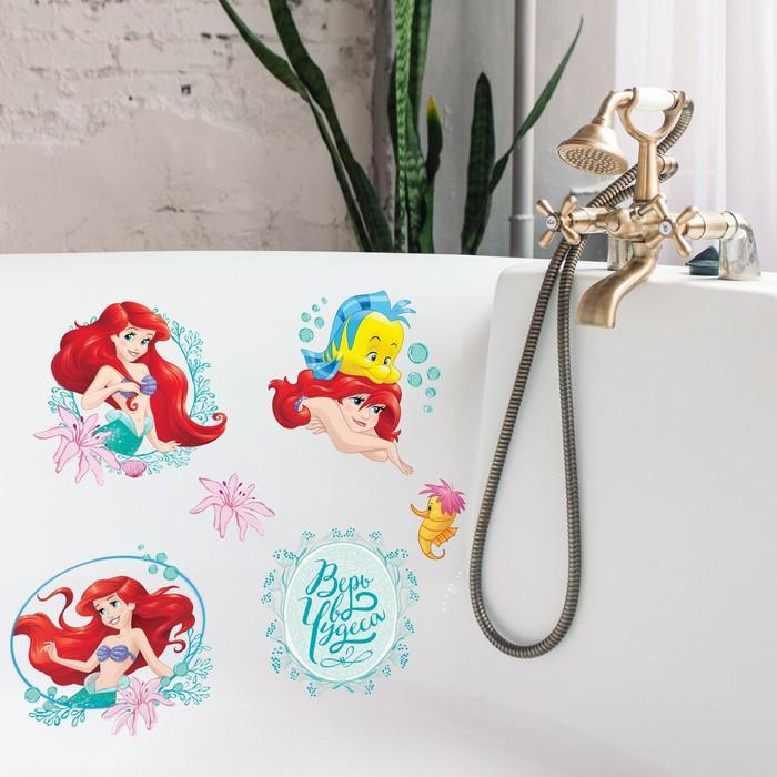 """Наклейки детские в ванну в наборе """"Верь в чудеса"""", Принцессы"""