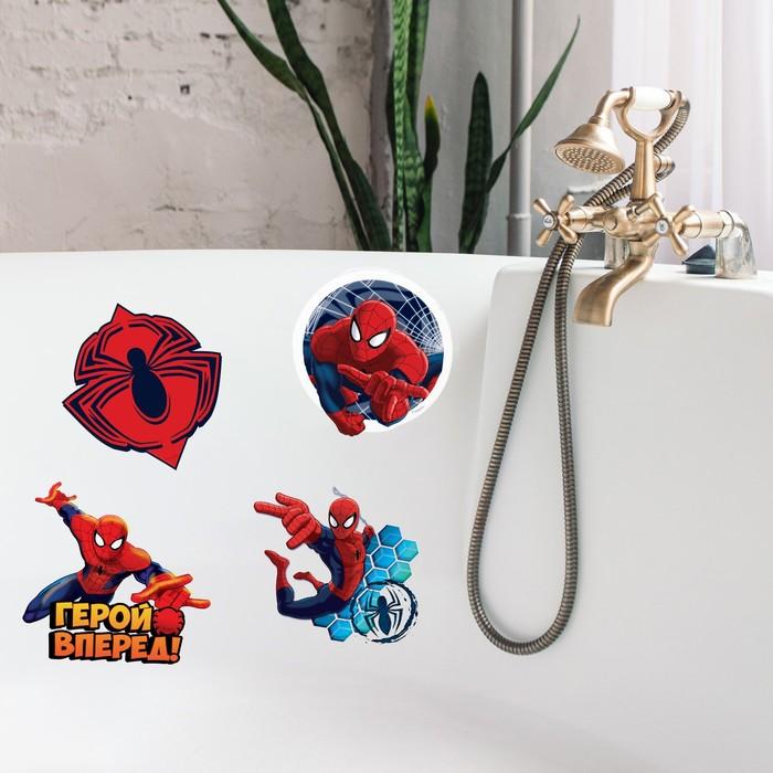 """Наклейки детские в ванну в наборе """"Ты супер герой!"""", Человек-паук"""