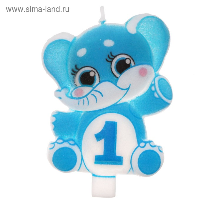 """Candle in cake figure 1 """"Elephant"""""""
