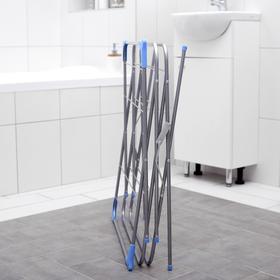 Сушилка для белья напольная, 144×50×60 см, 9,5 м, 3 -х уровневая, металлическая окрашенная - фото 4635095