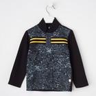 Рубашка для мальчика, рост 92 см, цвет чёрный/карбон милитари Рб-200.1_М