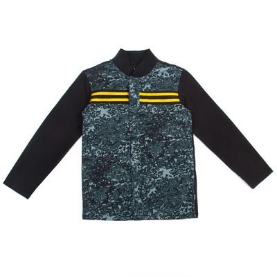 Рубашка для мальчика, рост 116 см, цвет чёрный/карбон милитари Рб-200.1