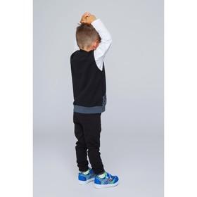 Жилет для мальчика, рост 110 см, цвет черный/карбон милитари Жт-203