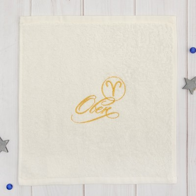 Terry towel Oven 30x30 cm, color milk, 100% cotton, 340 g/m2