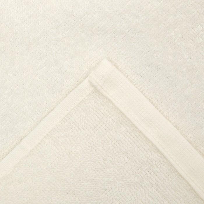 "Полотенце махровое ""Овен"" 30х30 см, цвет молочный, 100% хлопок, 340 г/м2"