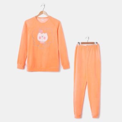 Комплект женский (джемпер, брюки), цвет оранжевый, размер 50, рост 158-164