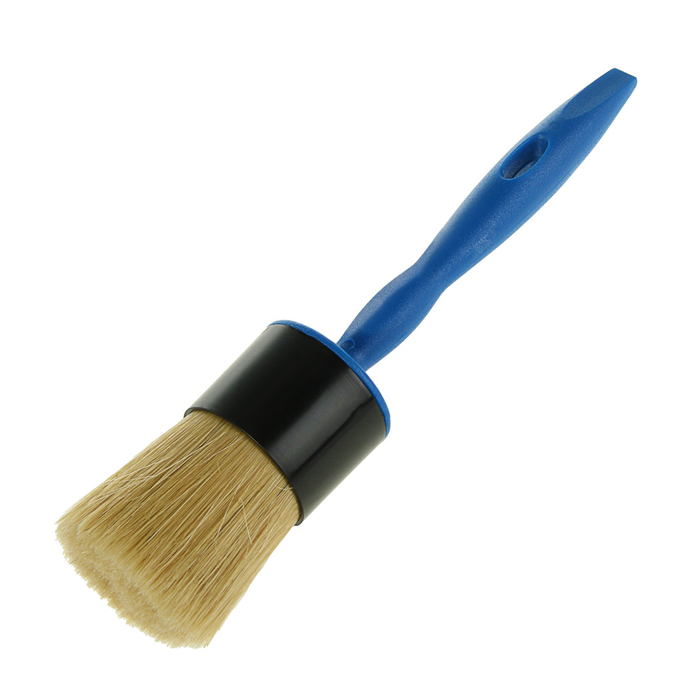 Кисть круглая TUNDRA comfort, 50 мм, ручка пластик, натуральная щетина