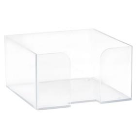 Подставка для бумажного блока 90 х 90 х 50, пластик прозрачный