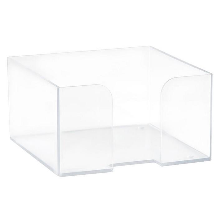 Подставка для бумажного блока 90х90х50, пластик прозрачный