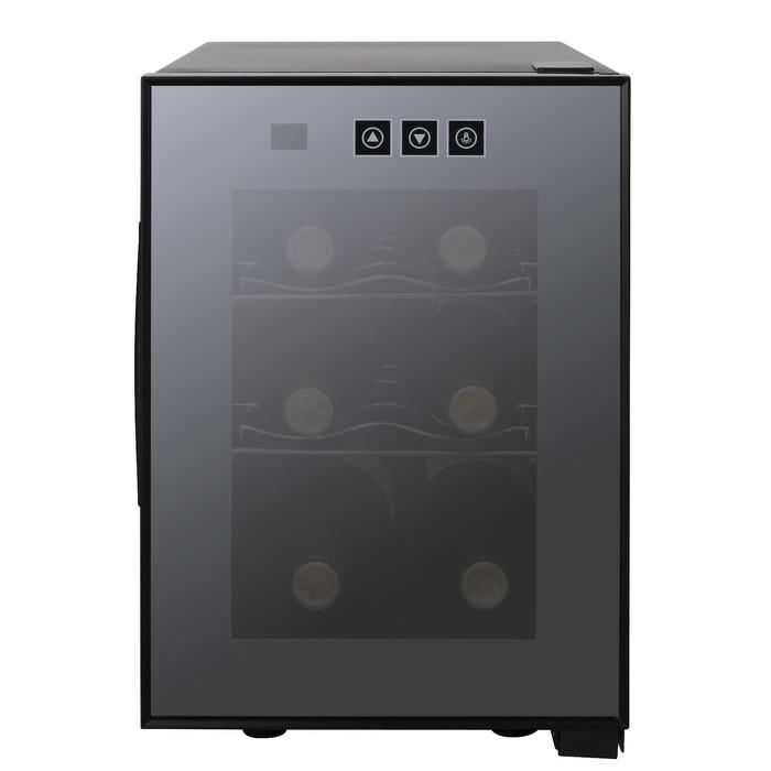 Винный шкаф GASTRORAG JC-16C, 16 л, 6 бутылок х 0.75 л, 1 дверца, сенсорное упр.- ие, чёрный