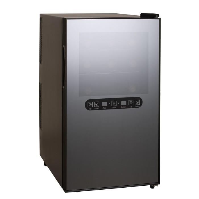 Винный шкаф GASTRORAG JC-48DFW, 48 л, 2 температурные зоны, 18 бутылок х 0.75 л, чёрный