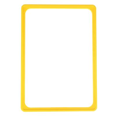 Рама пластиковая, формат А4, без протектора, цвет жёлтый