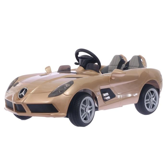 "Электромобиль ""MERCEDES-BENZ SLR MCLAREN New"", EVA колёса, цвет шампань глянец"