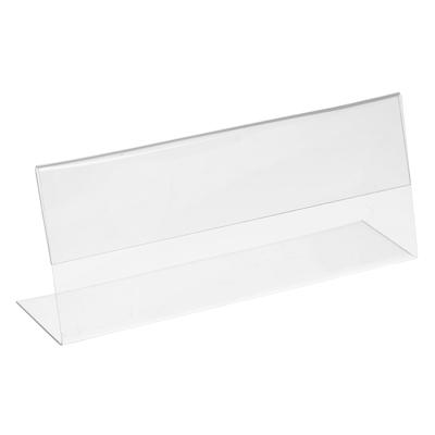 Ценникодержатель 100*40 горизонтальный, пластик, цвет прозрачный